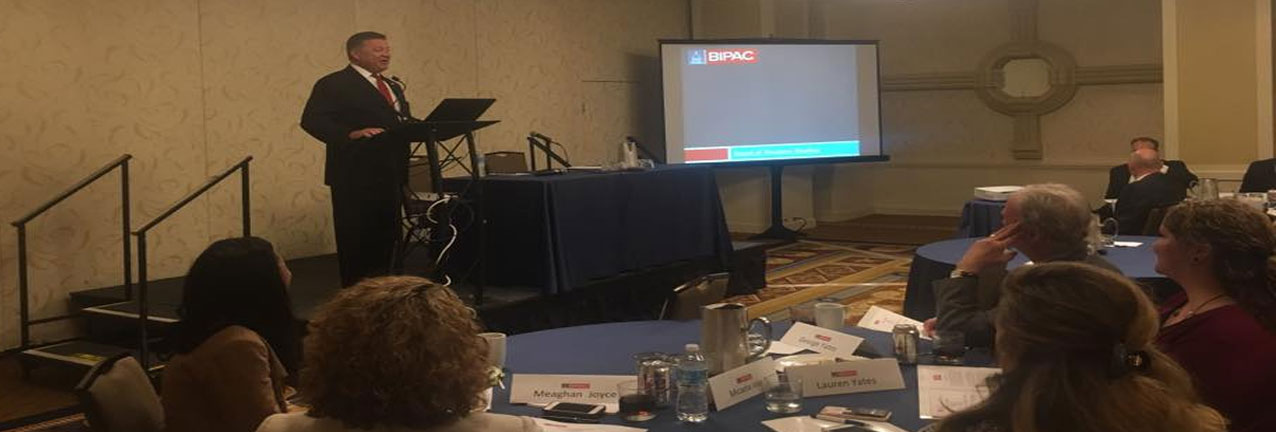 Chairman of the U.S. House Transportation & Infrastructure Committee Rep. Bill Shuster (R-PA 9) speaking at the BIPAC Board Spring 2017 Meeting in Washington, DC