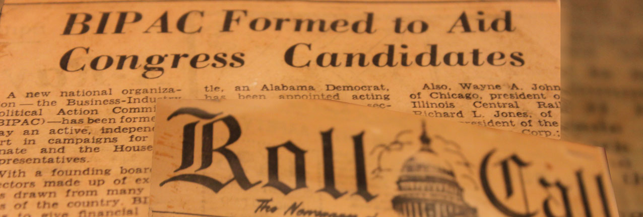 Select press clippings from BIPAC's founding in 1963